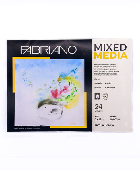 Fabriano Blocks Mixed Media 160gsm 24sheets per pad
