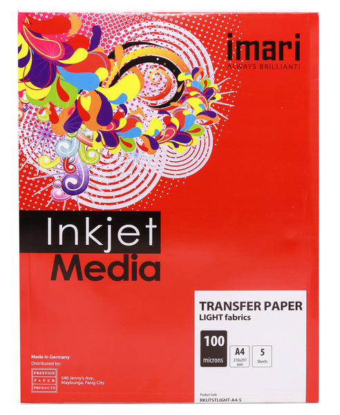 Imari T-shirt Transfer Paper 5sheets per pack