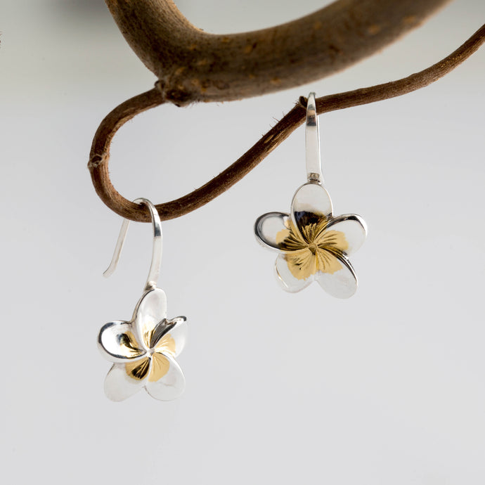 Frangipani for Loyalty & Love - Always Flowers Earrings Collection-Always Flowers Earrings-[recycled]-[fair trade]-Mosami-ethical-fairtrade-mindful-conscious-ecofriendly-recycled