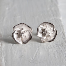 Poppy for Joy - small stud earring - Always Flowers Earrings Collection-Always Flowers Earrings-[recycled]-[fair trade]-Mosami-ethical-fairtrade-mindful-conscious-ecofriendly-recycled