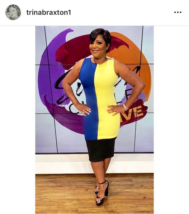 Trina Braxton Wears Shan Latris on TV One's Sister Circle!