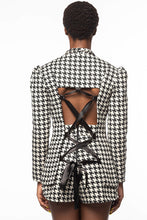 Load image into Gallery viewer, *HOUNDSTOOTH* GENESIS  LACE-UP BACK BLAZER