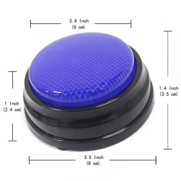 Recordable communication buttons for dogs dimensions