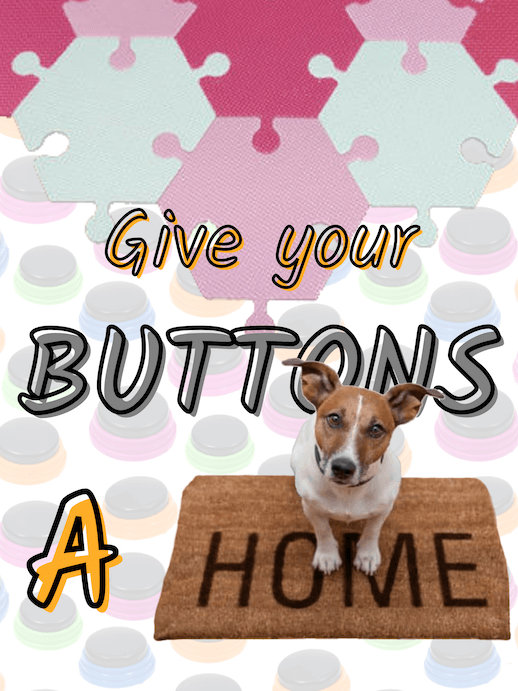 Give your recordable buttons for dogs a home with hex tiles for recordable dog buttons!
