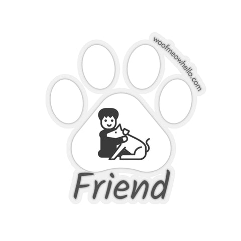 Sticker Label For Dog Speaking Buttons - Friend