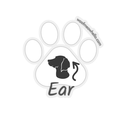 Sticker Label For Dog Speaking Buttons - Ear