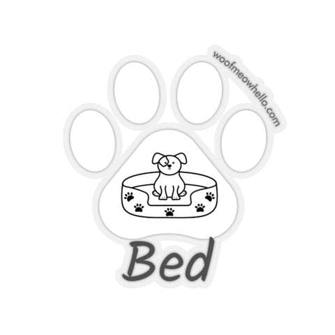 "Bed - 2"" X 2"" Sticker Label for Dog Speech Button"