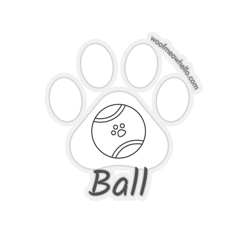 Sticker Label For Dog Speaking Buttons - Ball