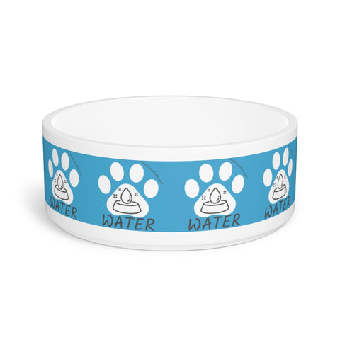 Image of Pet Bowl - Water Bowl For Talking Cats And Talking Dogs - Woof Meow Hello Sticker Label Design