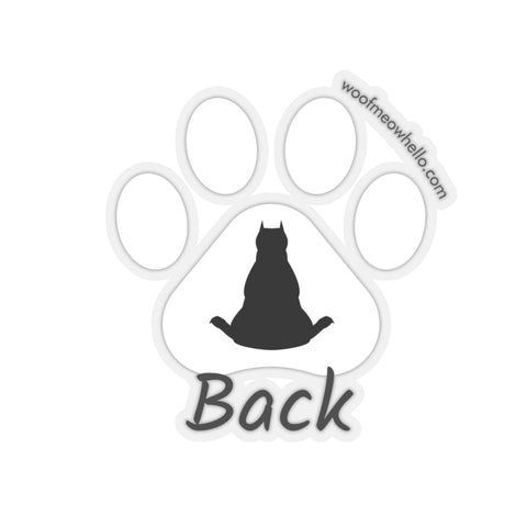 Sticker Label For Dog Speaking Buttons - Back
