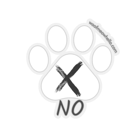 No - Sticker Label For Dog Sound Buttons (Paw Shaped)