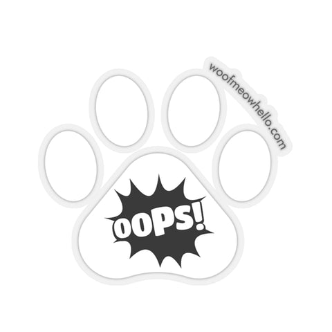 Sticker Label For Dog Speaking Buttons - Oops
