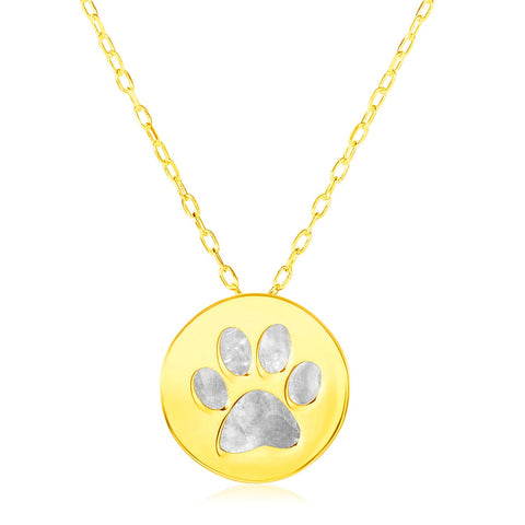 14k Dog Paw Gold Necklace: the true badge of the best pet friend
