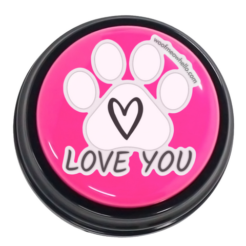Love you - Paw-Shaped Sticker
