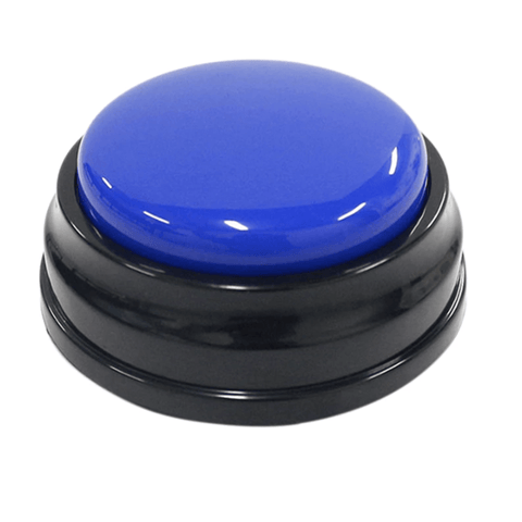 Image of Blue speech button for dogs and cats