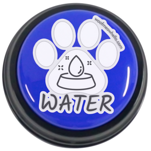 Water - Sticker Label Paw Shaped For Dog Speech Buttons