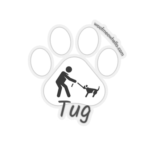 Sticker Label For Dog Speaking Buttons - Tug