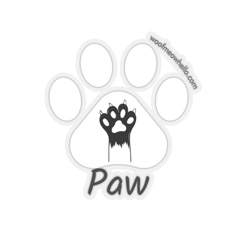 Sticker Label For Dog Speaking Buttons - Paw