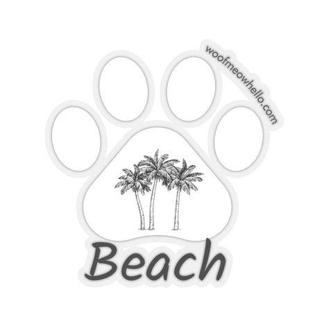 Sticker Label For Dog Speaking Buttons - Beach