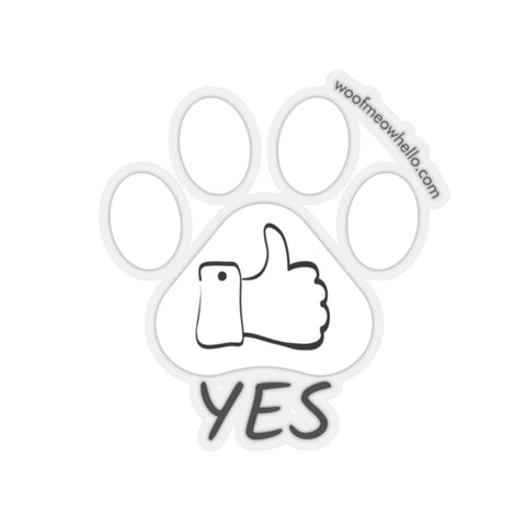 Yes - Paw Shaped Sticker Label For Dog Communication Buttons