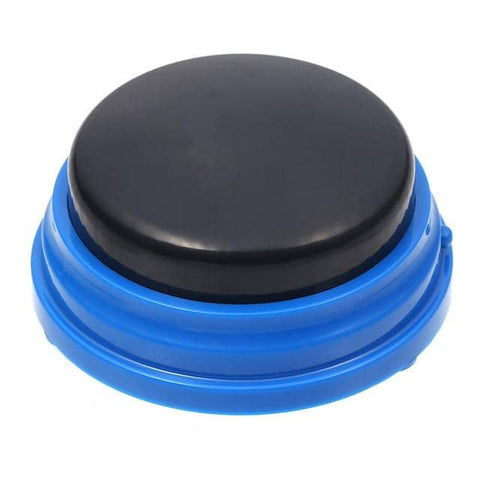 Image of Dog Communication Buttons w/ solid black top - Buttons For Dogs To Talk Communication buttons Woof Meow Hello Blue