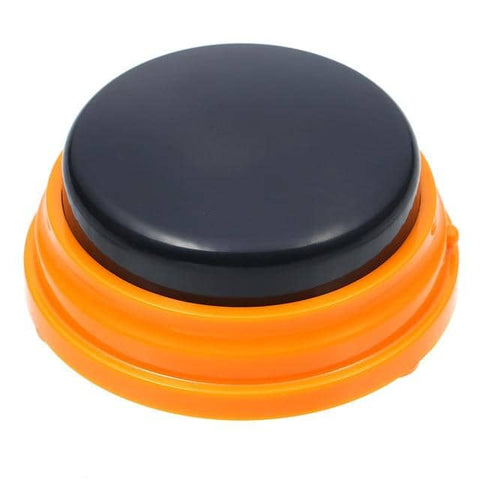 Image of Dog Communication Buttons w/ solid black top - Buttons For Dogs To Talk Communication buttons Woof Meow Hello Orange