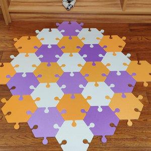 Foam Hexagon Tiles for Communication Buttons (Pack of 6) Floor Tiles Woof Meow Hello