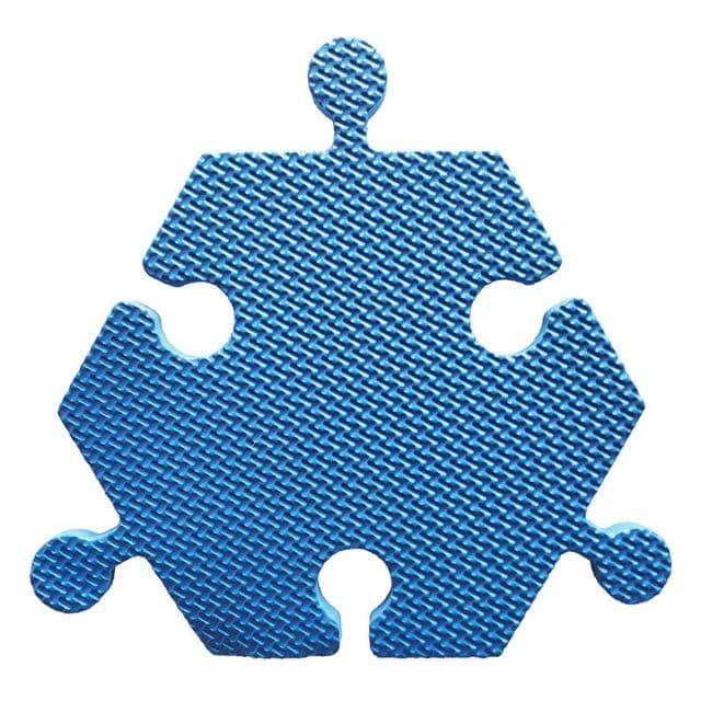 Foam Hexagon Tiles for Communication Buttons (Pack of 6) Floor Tiles Woof Meow Hello Blue