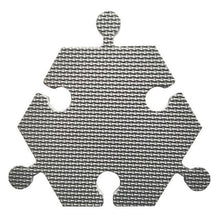 Load image into Gallery viewer, Foam Hexagon Tiles for Communication Buttons (Pack of 6) Floor Tiles Woof Meow Hello Grey