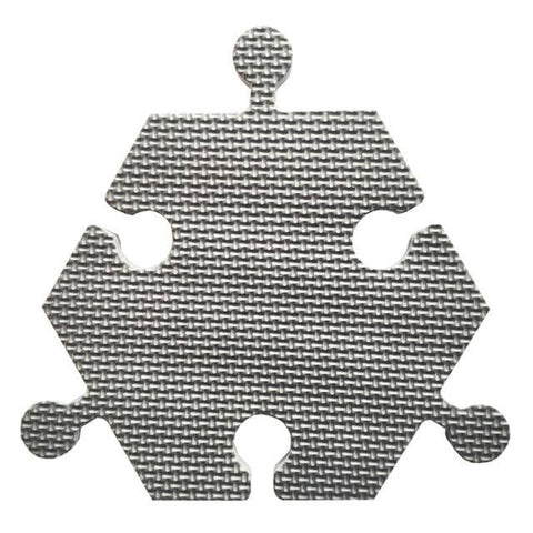 Foam Hexagon Tiles for Communication Buttons (Pack of 6) Floor Tiles Woof Meow Hello Grey