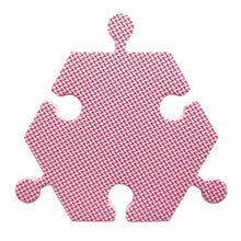 Load image into Gallery viewer, Foam Hexagon Tiles for Communication Buttons (Pack of 6) Floor Tiles Woof Meow Hello Pink