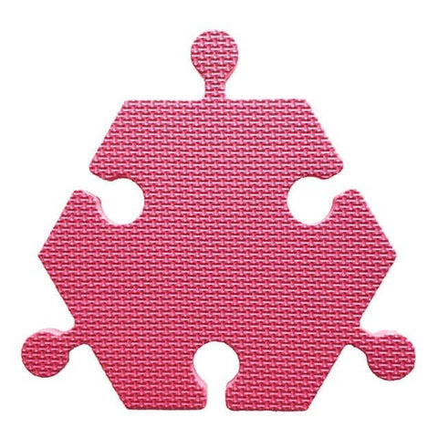 Foam Hexagon Tiles for Communication Buttons (Pack of 6) Floor Tiles Woof Meow Hello Rose