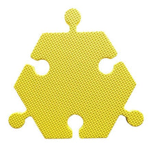 Load image into Gallery viewer, Foam Hexagon Tiles for Communication Buttons (Pack of 6) Floor Tiles Woof Meow Hello Yellow