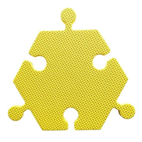 Foam Hexagon Tiles for Communication Buttons (Pack of 6) Floor Tiles Woof Meow Hello Yellow