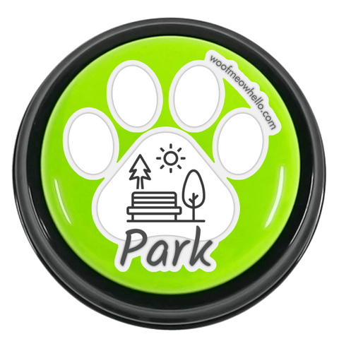 Sticker Label For Dog Speaking Buttons - Park