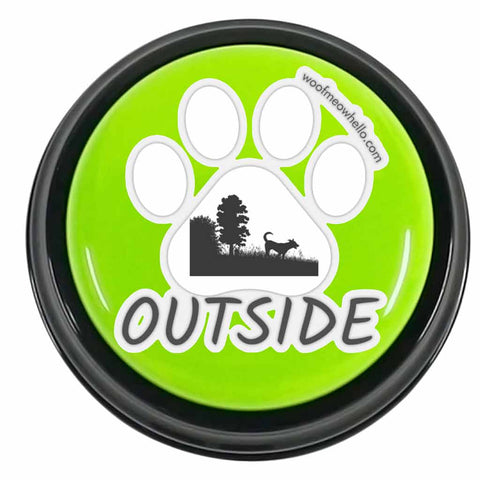 Outside - Sticker Label For Dog Speech Buttons
