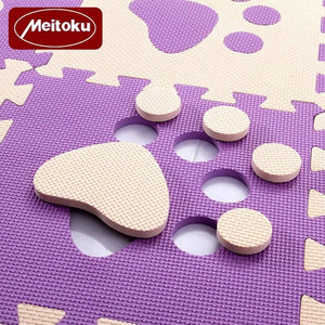 Set of 10 - Paw Print Foam Tiles for Talking Dog Buttons / Talking Cat Buttons Woof Meow Hello