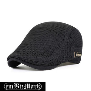 2021 New Summer Men Hats Breathable Mesh Newsboy Caps Outdoor Gorro Hombre Boina Golf Hat Fashion Solid Flat Cap For Women