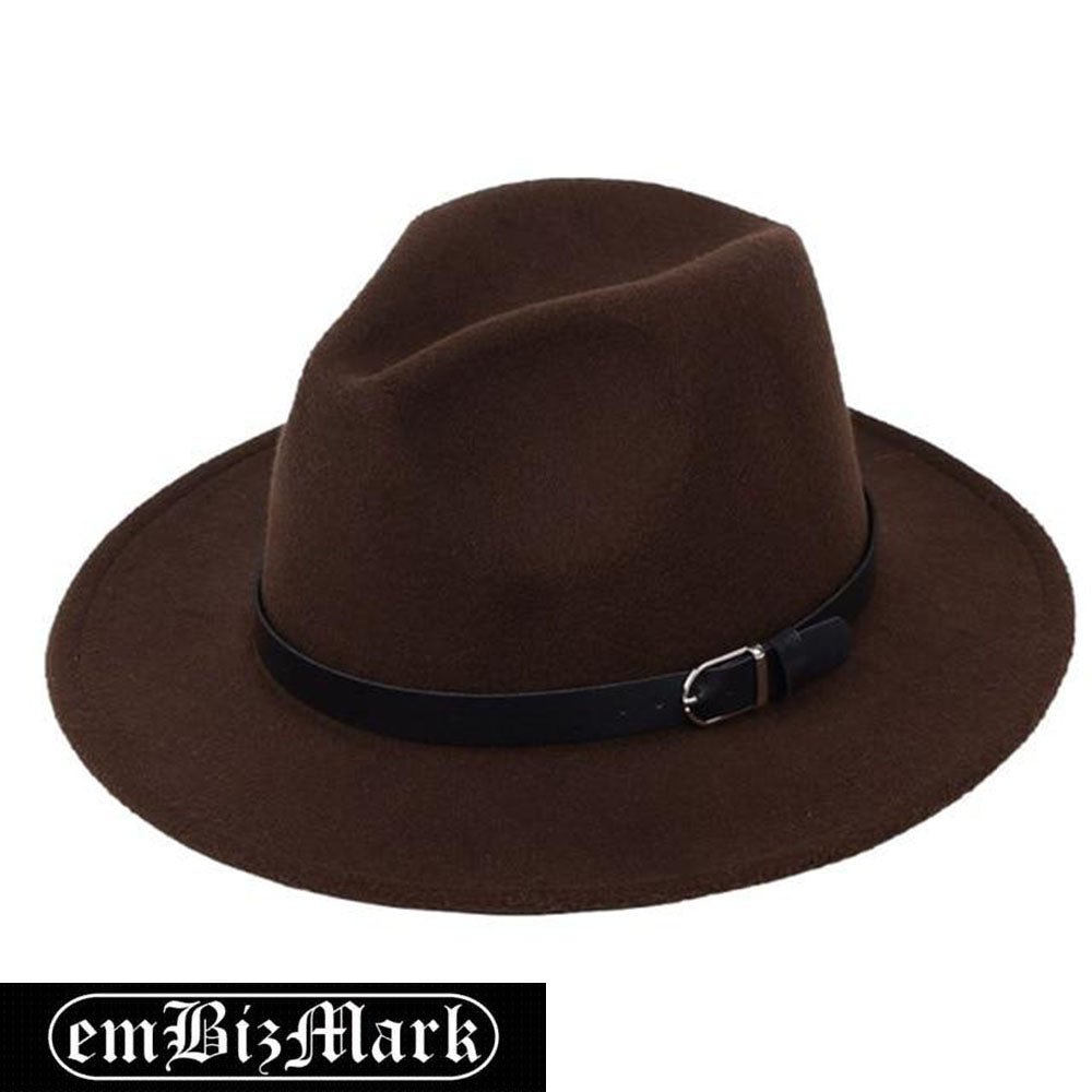 Classic British Fedora Hat Men Women Imitation Woolen Winter Felt Hats Men Fashion Jazz Hat Fedoras Chapeau
