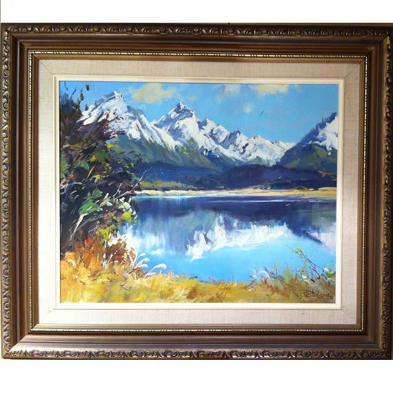 Framed Paint Lake Diamond and The Humboldt mountains