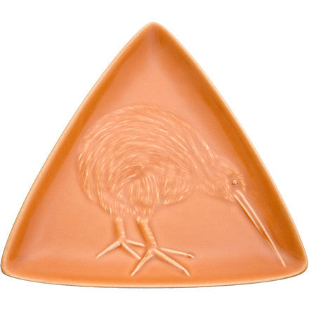 Triangle Plate - Kiwi - Orange