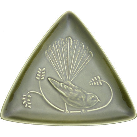 Triangle Plate - Fantail - Moss Green