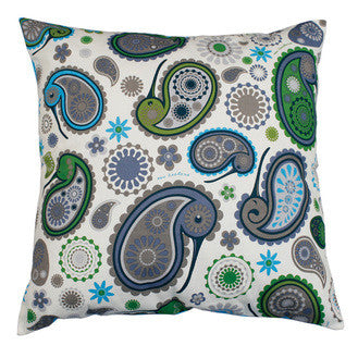 Kiwi Paisley Cushion Covers