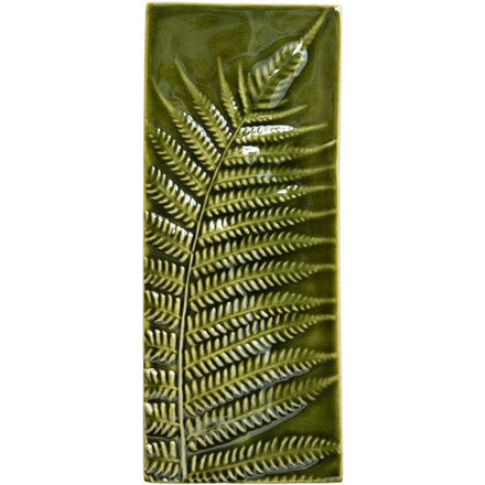 Wall Oblong Silver Fern - Moss Green