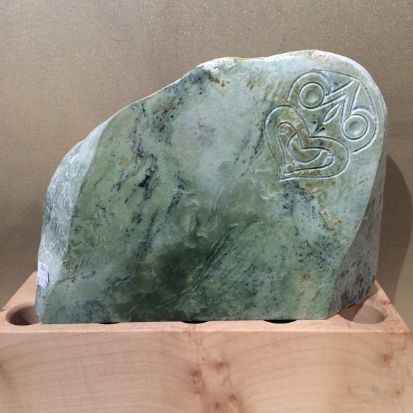 New Zealand Greenstone Sculpture - Flower