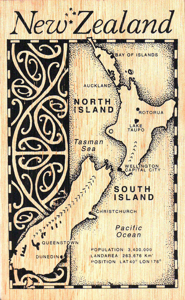 New Zealand Wooden Postcards