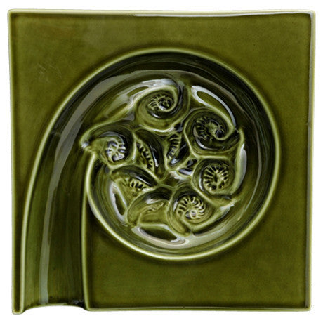 Wall Square Koru In - Moss Green