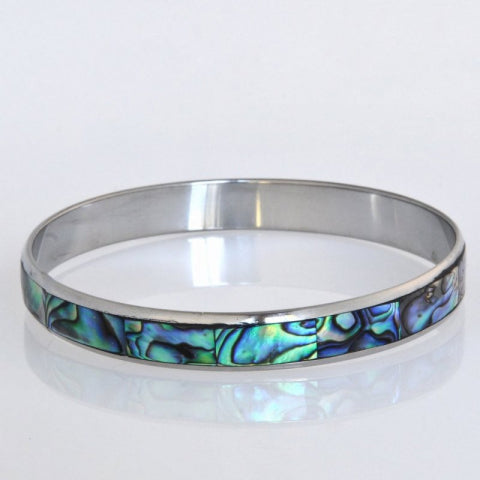 Paua Shell Bangle 10mm XS to XL