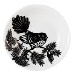 Black & White Fantail - Sauce Plate Set
