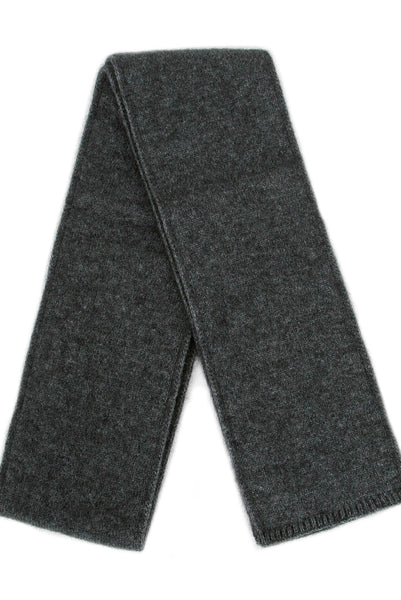 NZ Possum & Merino Plain Scarf - Charcoal